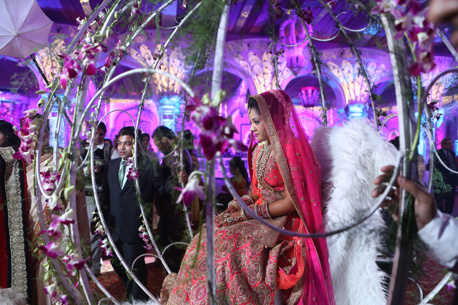 Spectacularly Magnificent Entry of the Bride by Amit Kumar Wedding-photography | Weddings Photos & Ideas