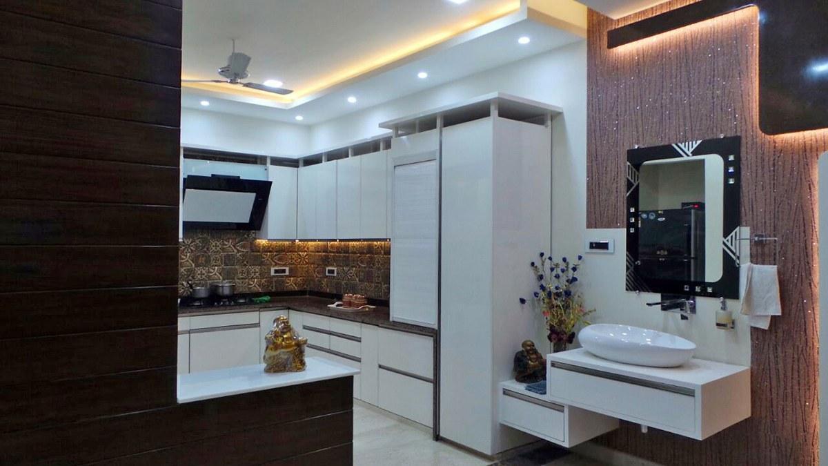 Lavish Cooking by Kalpana Gupta Modular-kitchen Modern | Interior Design Photos & Ideas