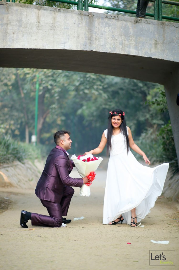 Proposal With Roses by Let's Eventify Wedding-photography | Weddings Photos & Ideas
