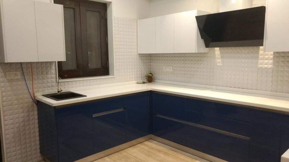 When White Meets Blue by Atelier Interiors Modular-kitchen Modern | Interior Design Photos & Ideas