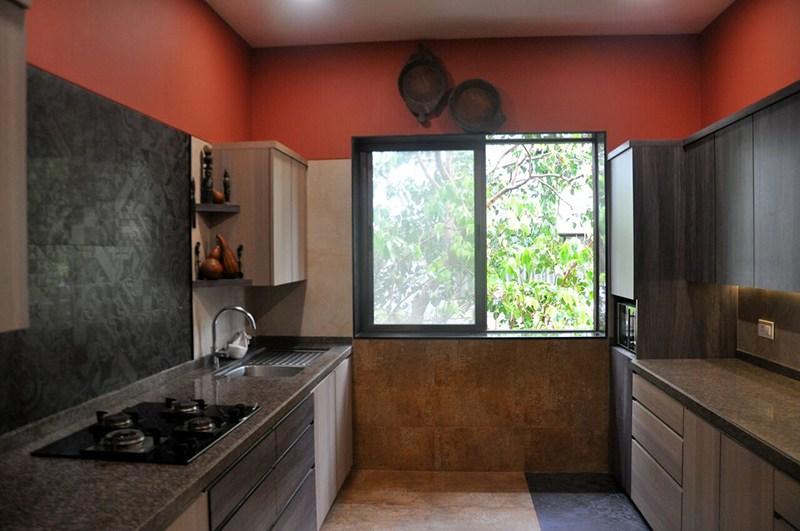 Ecru Shaded Modular Parallel Kitchen by Chaitali D Parikh Modular-kitchen Contemporary | Interior Design Photos & Ideas