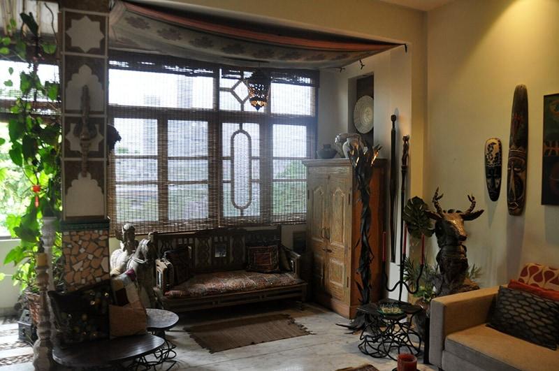 Light Brown Vintage Living Room by Chaitali D Parikh Living-room Vintage | Interior Design Photos & Ideas