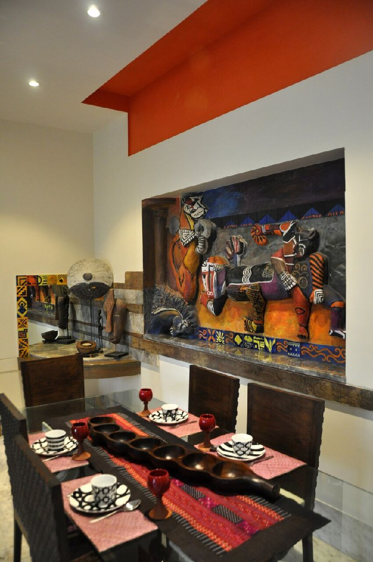 Artistic Dining Room With Painting by Chaitali D Parikh Dining-room Contemporary | Interior Design Photos & Ideas