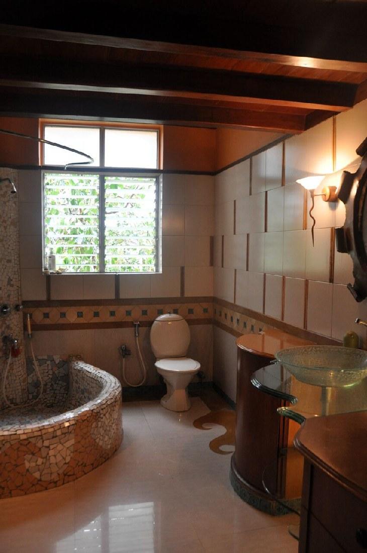 Authentic Bathroom With Quadrant Bathtub by Chaitali D Parikh Bathroom Contemporary | Interior Design Photos & Ideas