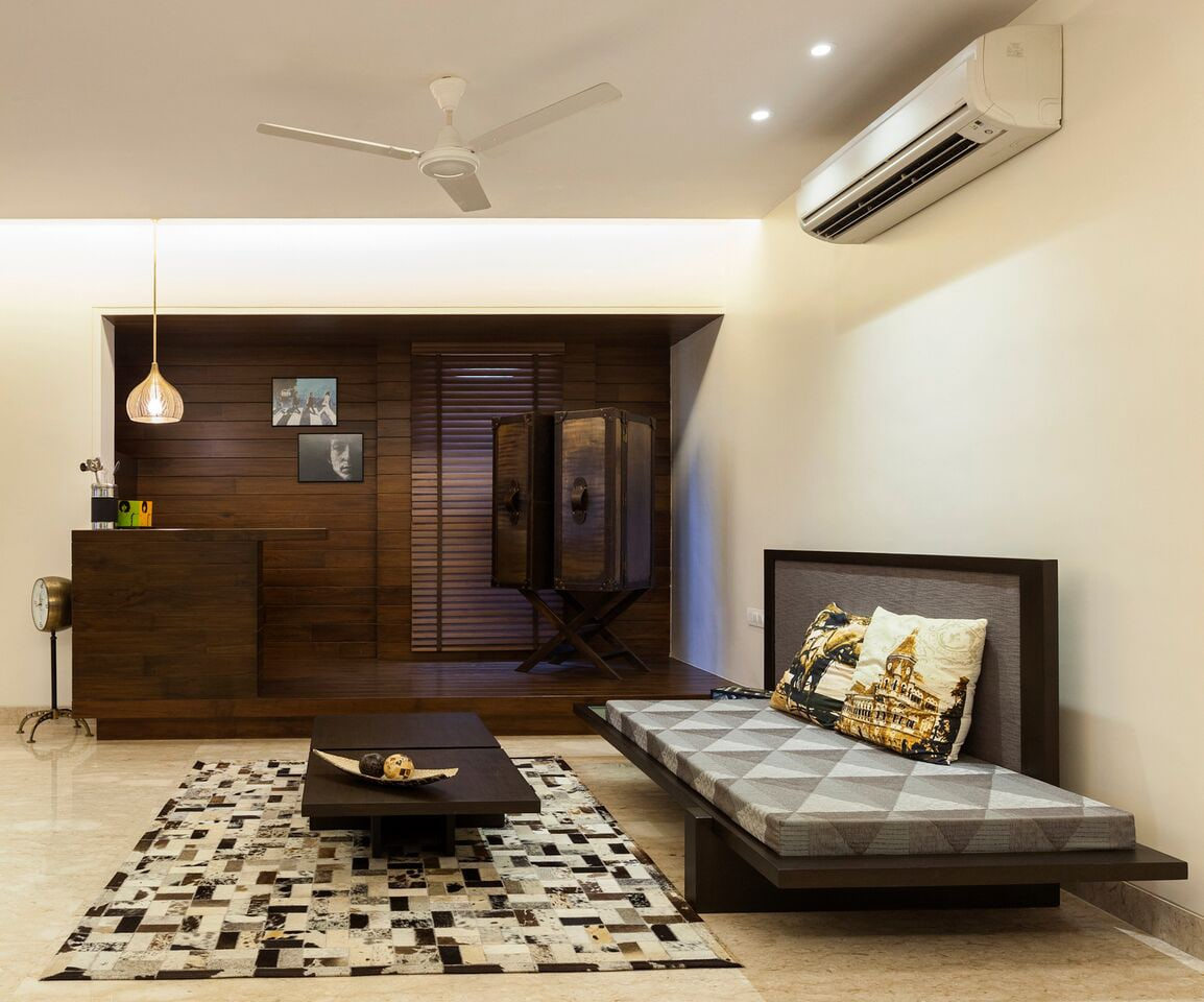 Living Area With Low Floor Sofa by Chaitali D Parikh Living-room Contemporary | Interior Design Photos & Ideas