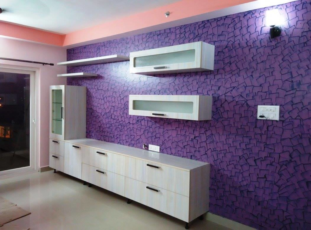 Modern display with wall decor by Ganesh Indoor-spaces Contemporary | Interior Design Photos & Ideas