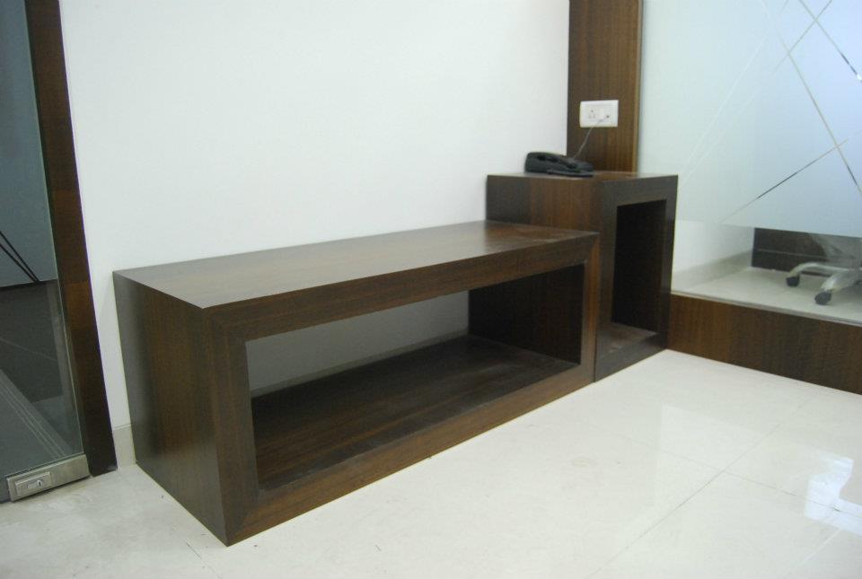 Wood Finished Side Table by Nilesh V. Gosavi