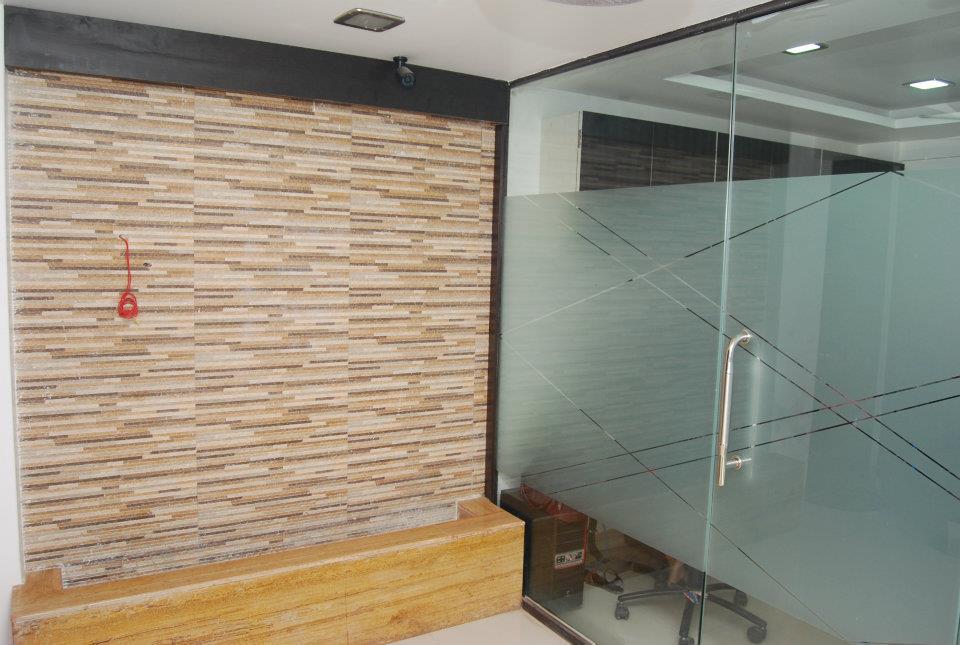 Modern Glass Office Cabin by Nilesh V. Gosavi Modern | Interior Design Photos & Ideas