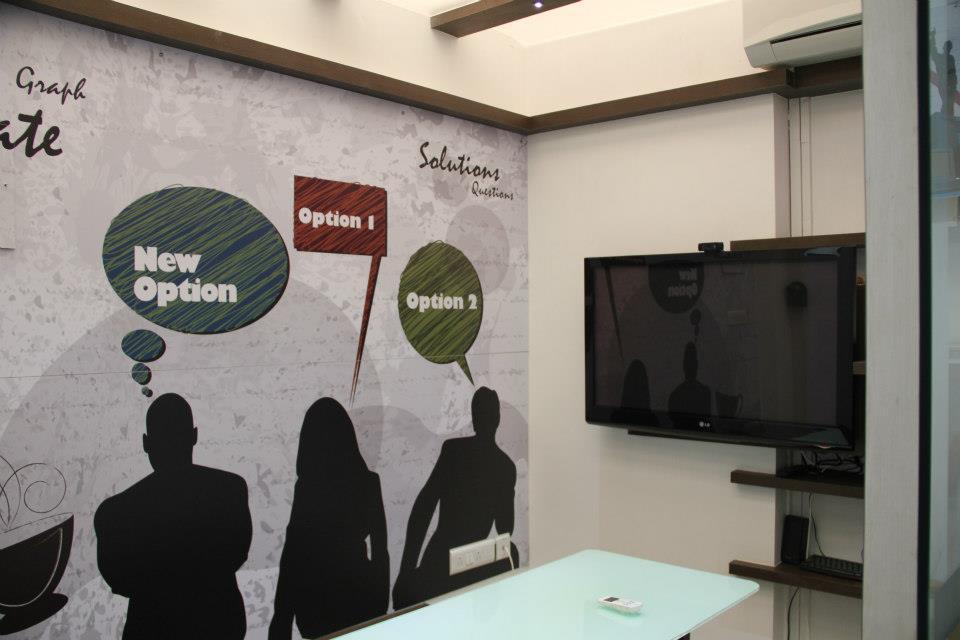 Modern Office Reception area by Nilesh V. Gosavi Modern   Interior Design Photos & Ideas