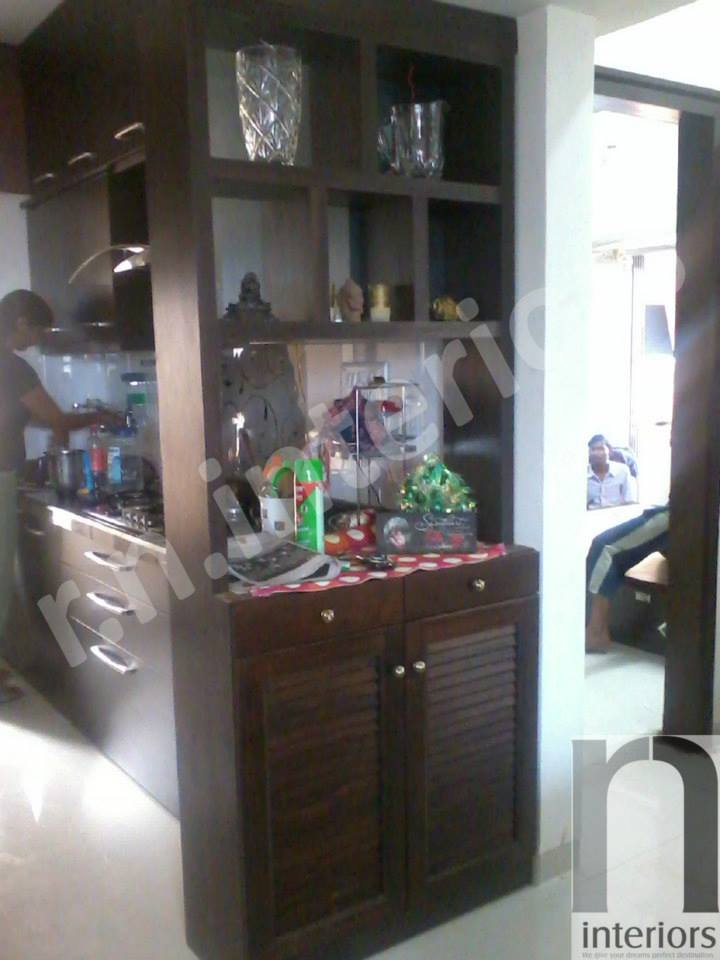 Minimalist Wooden Finish Display Unit by Nilesh V. Gosavi Living-room Minimalistic | Interior Design Photos & Ideas