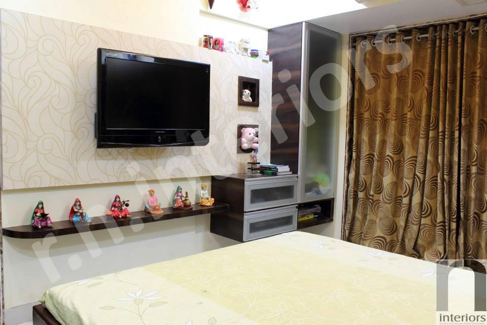 Modern Tv Display unit by Nilesh V. Gosavi Bedroom Contemporary | Interior Design Photos & Ideas