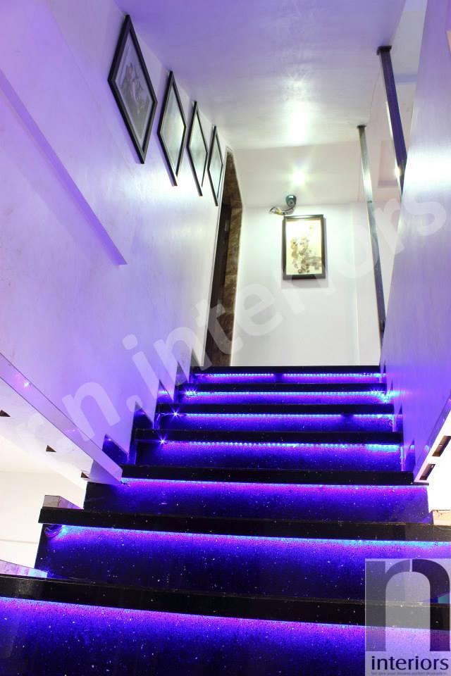 Modern illuminating Staircase by Nilesh V. Gosavi Indoor-spaces Modern | Interior Design Photos & Ideas