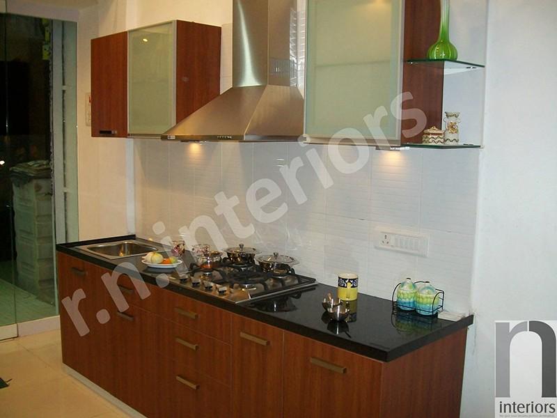 Minimalist Parallel Modular Kitchen by Nilesh V. Gosavi Modular-kitchen Minimalistic | Interior Design Photos & Ideas