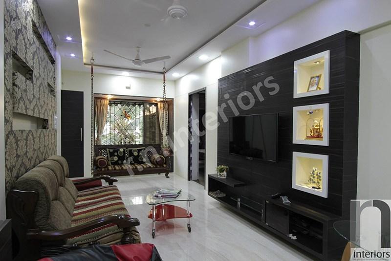 Traditional Aesthetic Living Arena by Nilesh V. Gosavi Living-room Traditional   Interior Design Photos & Ideas
