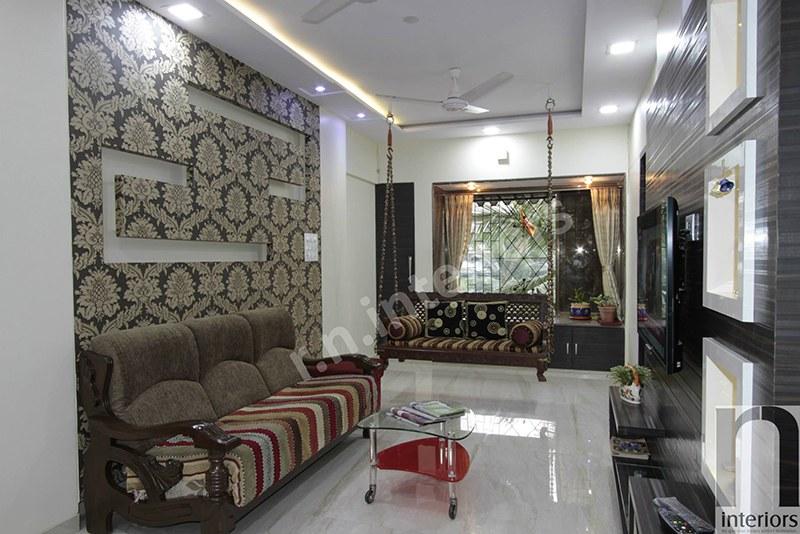Traditional Living room by Nilesh V. Gosavi Living-room Contemporary | Interior Design Photos & Ideas