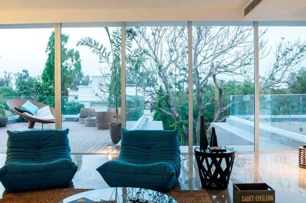open living room by Fehmida Memon  Modern | Interior Design Photos & Ideas