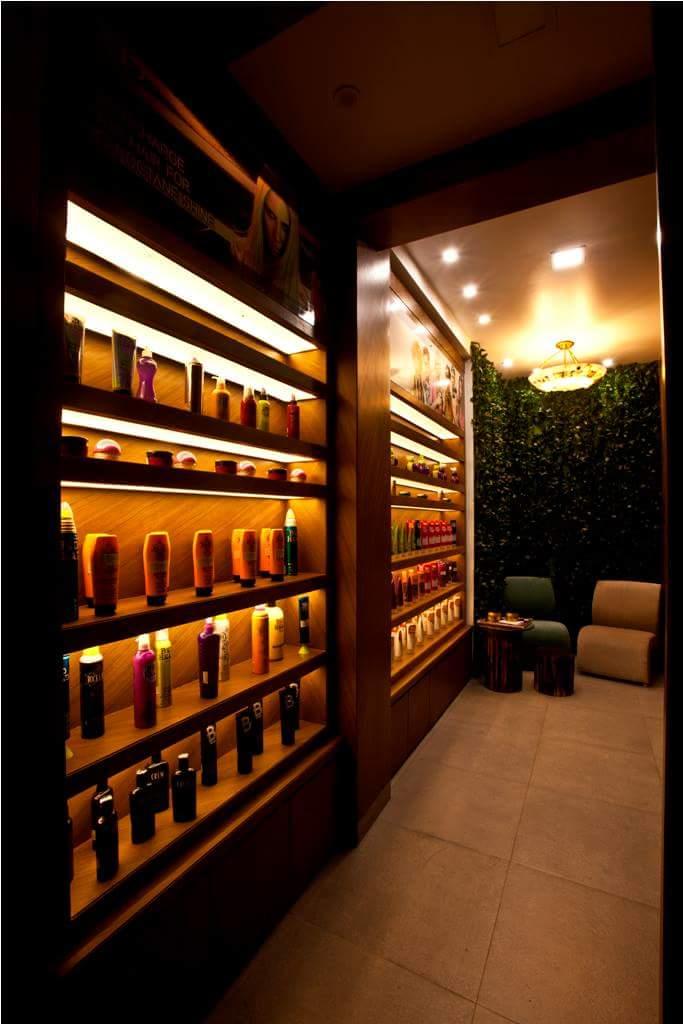 salon cabinet by Fehmida Memon  Modern | Interior Design Photos & Ideas