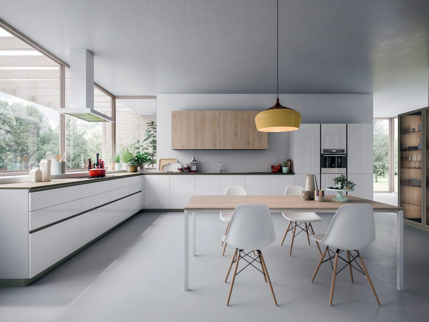 Modern minimal kitchen by Satyesh Machani