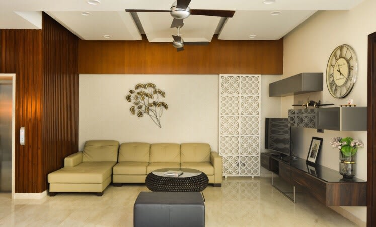 Contrasting Living Room With Beige Lawsons Sofa by Ganpat mistry Living-room Modern | Interior Design Photos & Ideas