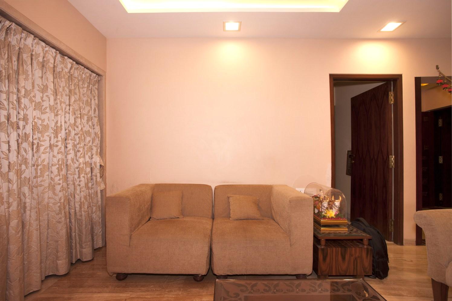 Creamy Affair by Plus One Interiors Living-room Contemporary | Interior Design Photos & Ideas