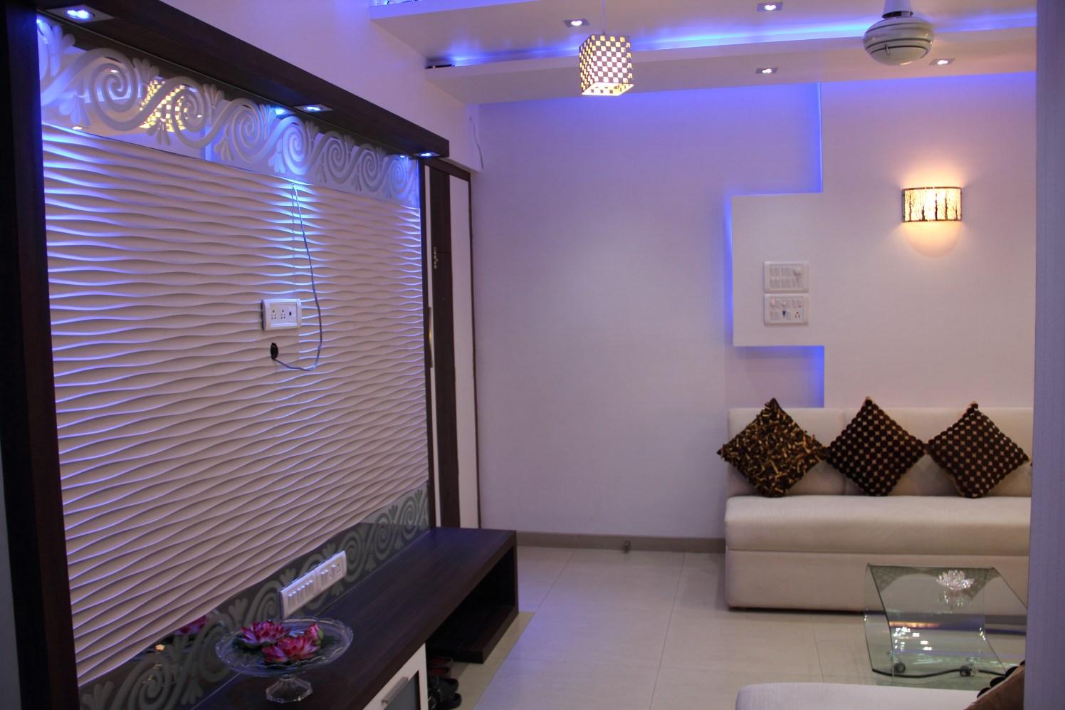 Blue Moon by Plus One Interiors Living-room Minimalistic | Interior Design Photos & Ideas
