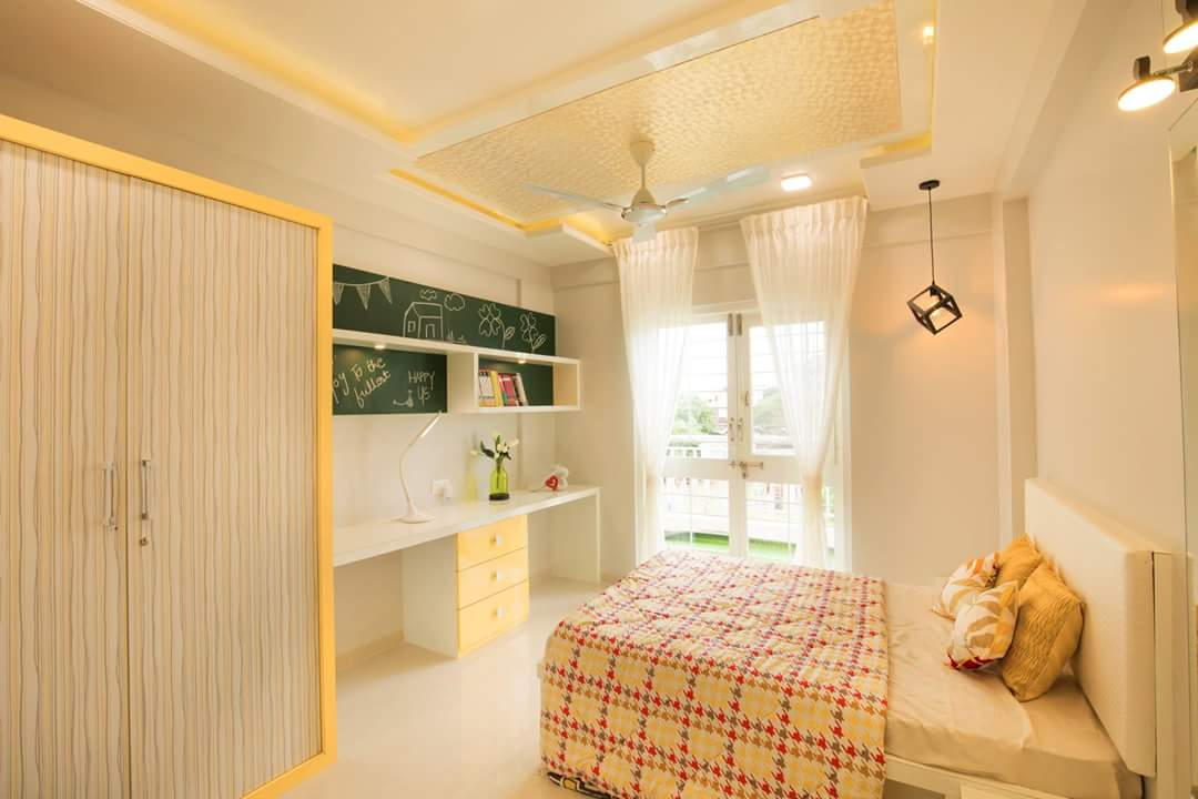 When White, Gold And Pink Steal The Show by reshma agarwal Modern   Interior Design Photos & Ideas
