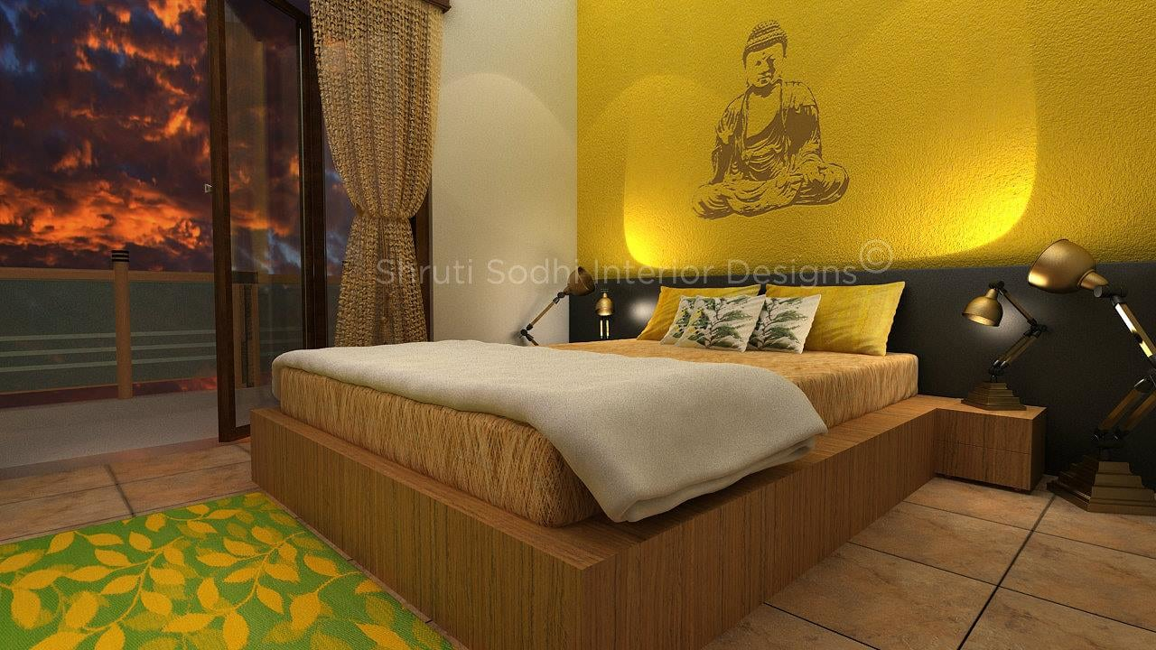 The Undisturbed Lemon Tree by Shruti Sodhi Bedroom Contemporary | Interior Design Photos & Ideas