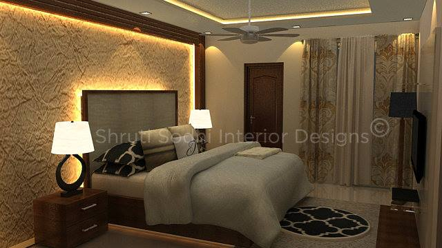 Shades Of Fire by Shruti Sodhi Bedroom Contemporary | Interior Design Photos & Ideas