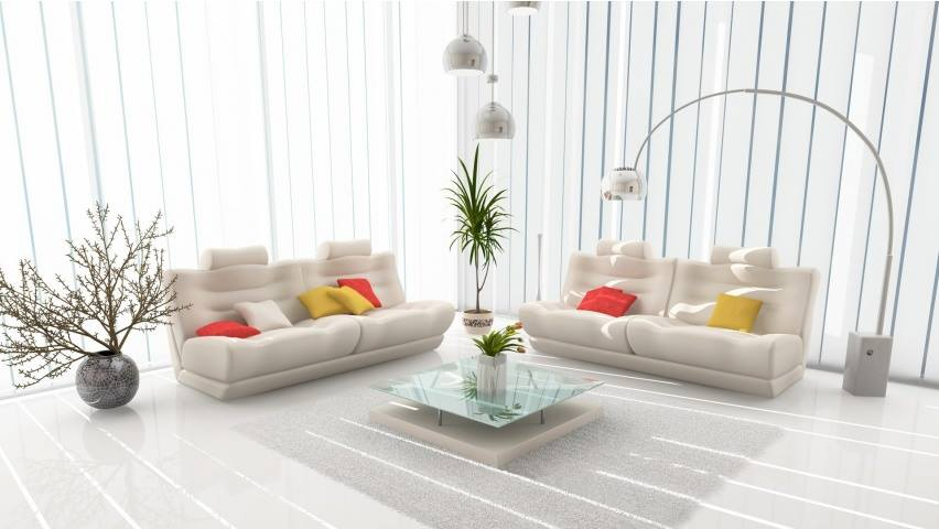 The Patterned White by Shruti Sodhi Living-room Modern | Interior Design Photos & Ideas