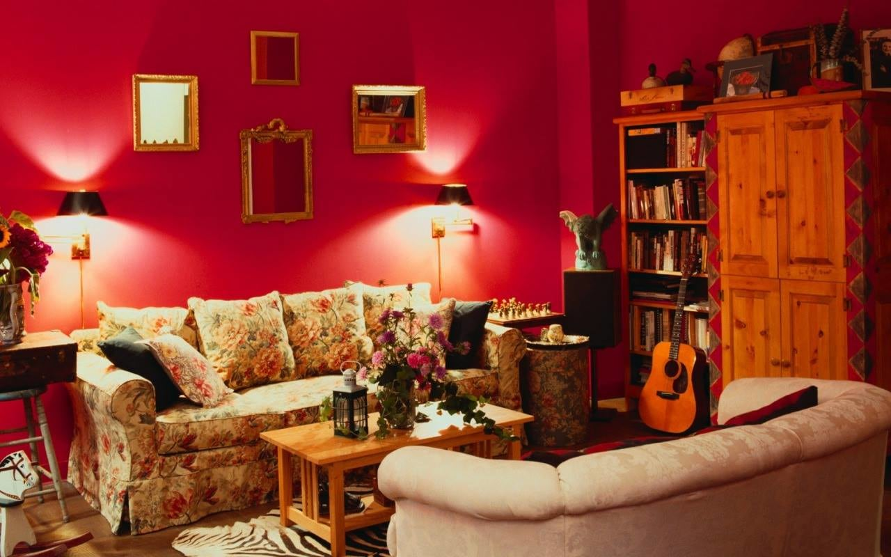 Red Zoned by Shruti Sodhi Living-room Contemporary | Interior Design Photos & Ideas