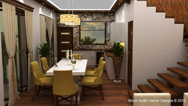 The Wooden Gateway by Shruti Sodhi Dining-room Contemporary | Interior Design Photos & Ideas