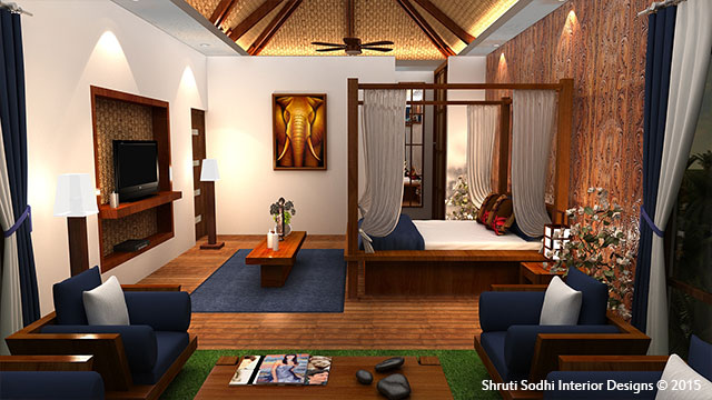The Unruffled Wood by Shruti Sodhi Bedroom Modern | Interior Design Photos & Ideas