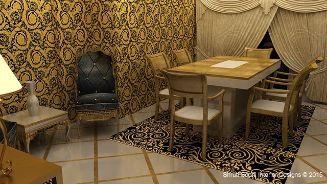 Reconciled Patterned Living by Shruti Sodhi Dining-room Contemporary | Interior Design Photos & Ideas