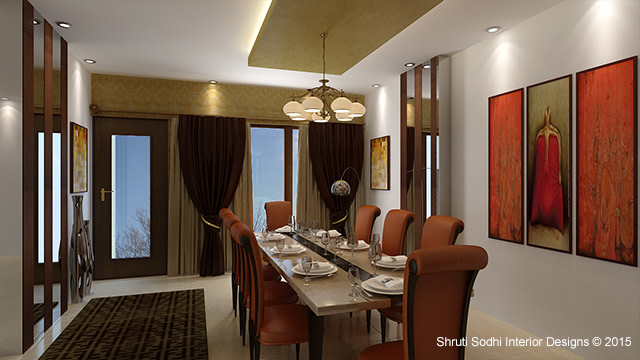 Modern Dining by Shruti Sodhi Dining-room Modern | Interior Design Photos & Ideas