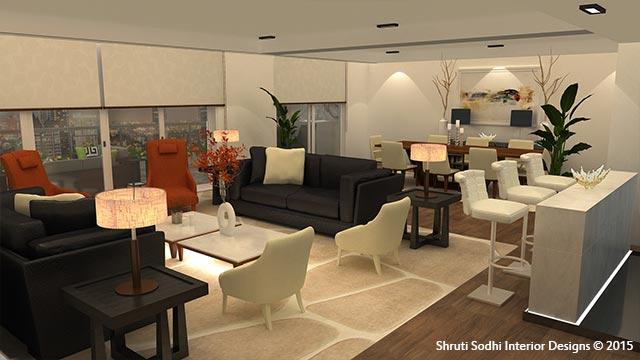 The Beckoning Living by Shruti Sodhi Living-room Contemporary   Interior Design Photos & Ideas