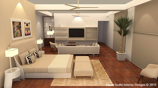 The Chamber of Peace by Shruti Sodhi Bedroom Modern | Interior Design Photos & Ideas