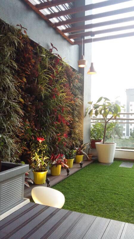 Garden On Terrace by Space It Up Modern | Interior Design Photos & Ideas