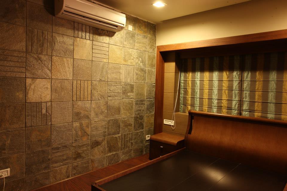 Spacious Bedroom by Rajesh Basu Majumdar Bedroom Contemporary | Interior Design Photos & Ideas