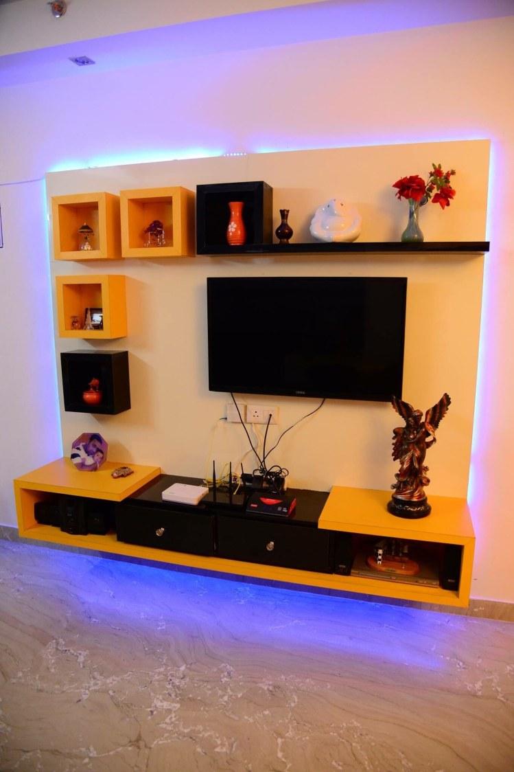 Black And Orange Blocks Display Unit by Saurabh Garg Living-room Contemporary | Interior Design Photos & Ideas