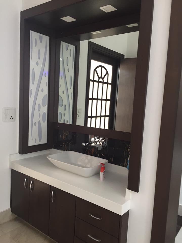Black and White Shaded Bathroom Design by Saurabh Garg Bathroom Modern | Interior Design Photos & Ideas