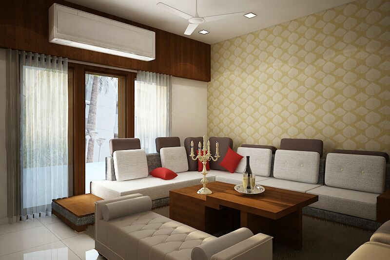 Royal Living Room by Sapna bhatti Modern | Interior Design Photos & Ideas