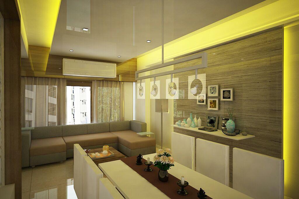 Majestic Living Room by Sapna bhatti Modern | Interior Design Photos & Ideas