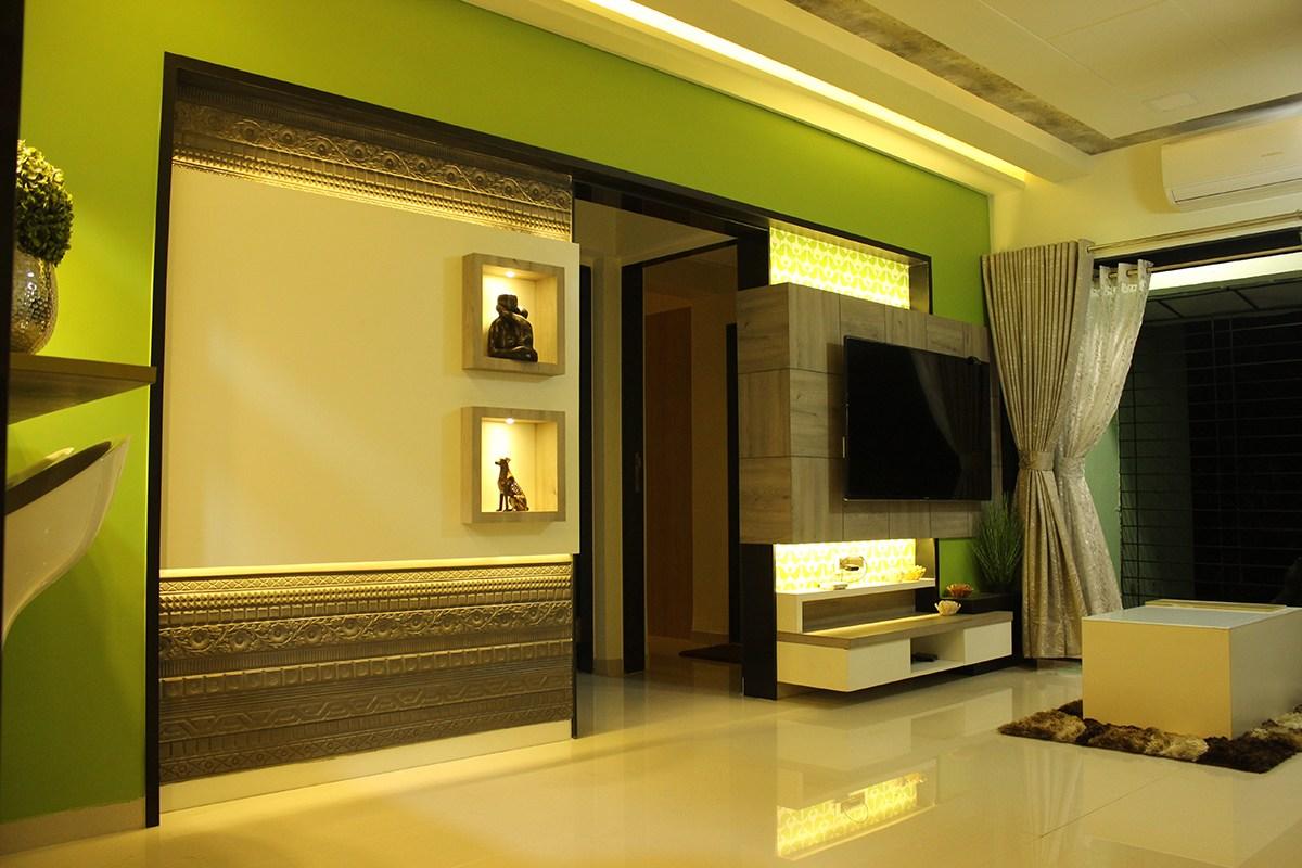Living Room by Poorva Palav Living-room Modern | Interior Design Photos & Ideas