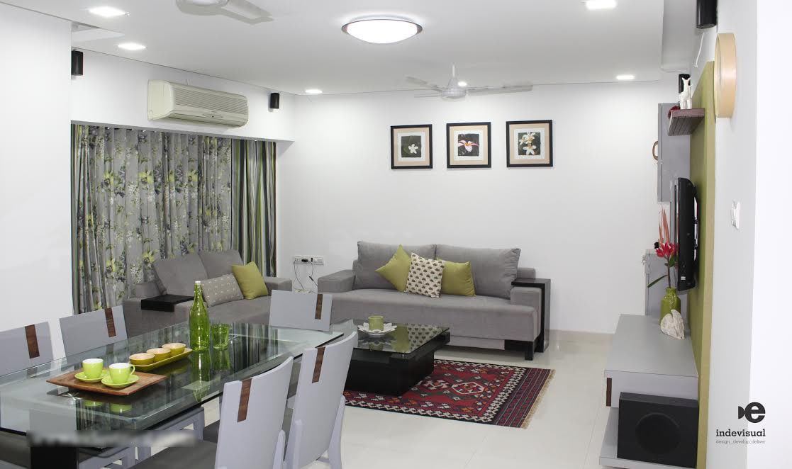 Greys that feel green by Vikrant Jadhav Contemporary | Interior Design Photos & Ideas