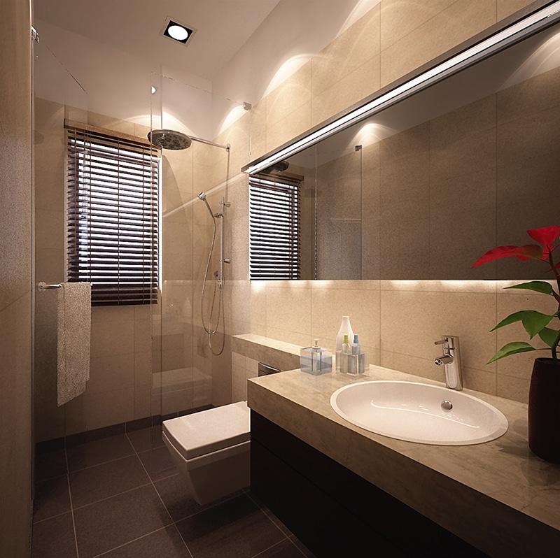 Modern Bathroom With Marble Top Cabinets by Jeetan Ranpura Bathroom Modern | Interior Design Photos & Ideas