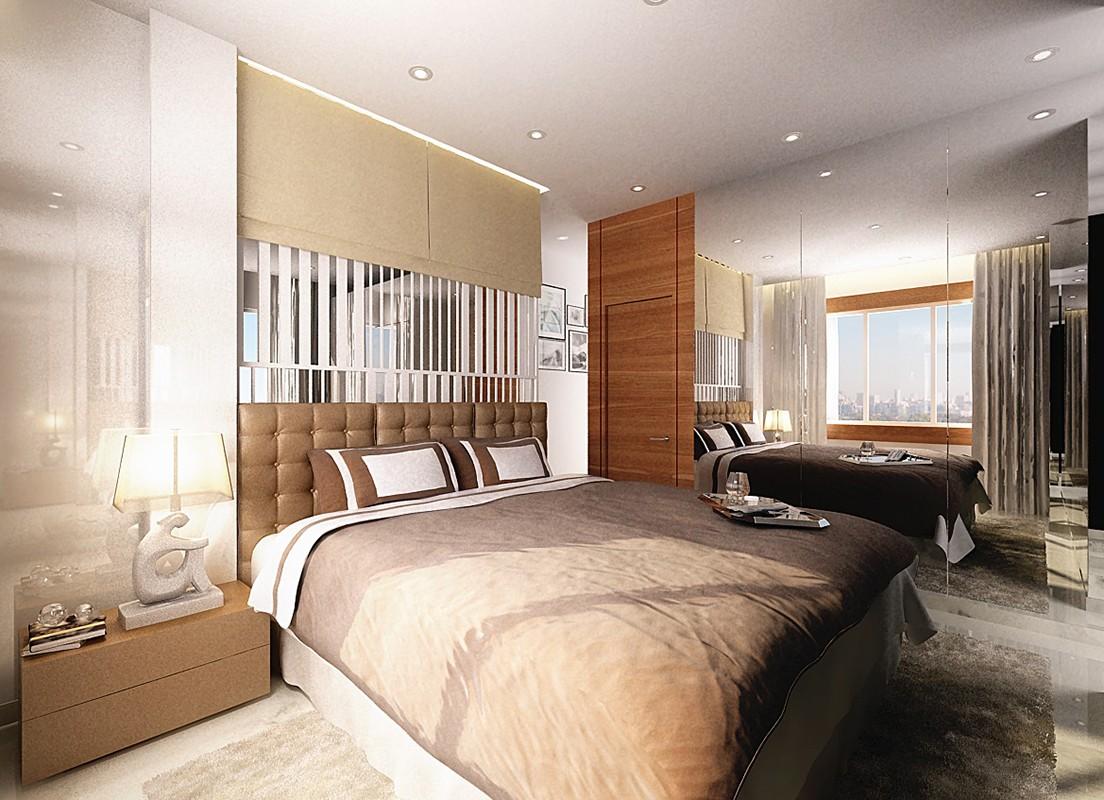 Spacious Brown Bedroom by Jeetan Ranpura Bedroom Contemporary | Interior Design Photos & Ideas