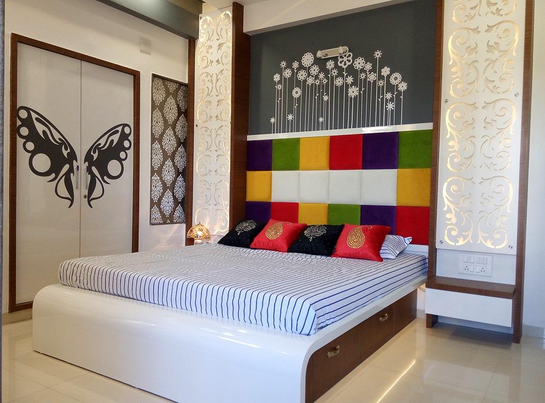 Unique Bedroom by Jigar Patel Contemporary | Interior Design Photos & Ideas