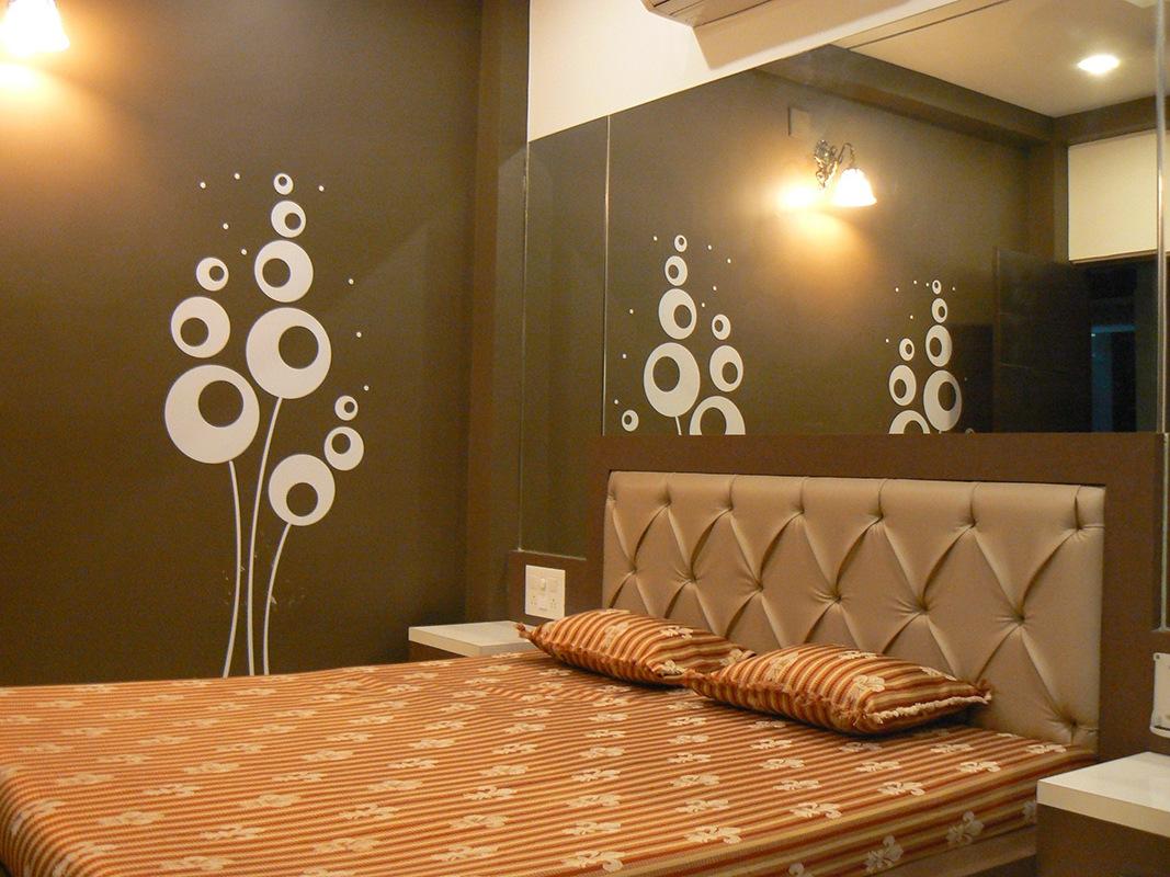 Brown Bedroom by Jigar Patel Bedroom | Interior Design Photos & Ideas