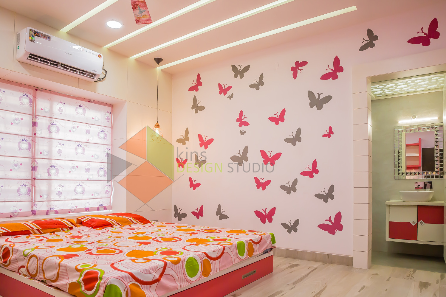 Colorful Bedroom by Kinnera Naresh Bedroom Contemporary | Interior Design Photos & Ideas