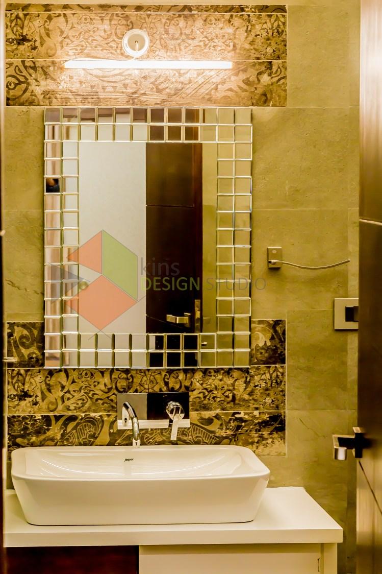 Simple Washroom Design by Kinnera Naresh Bathroom Modern | Interior Design Photos & Ideas